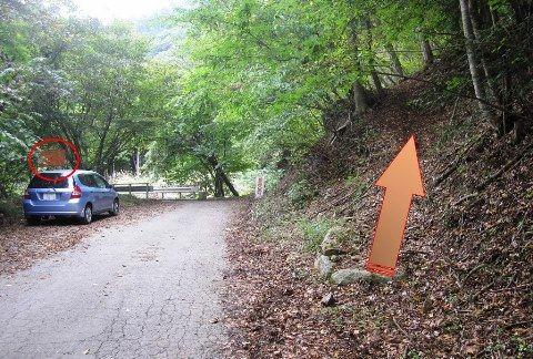 深沢大石神社,奥宮への入口