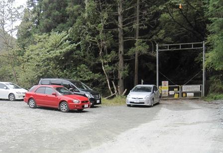ユーシン渓谷,駐車場
