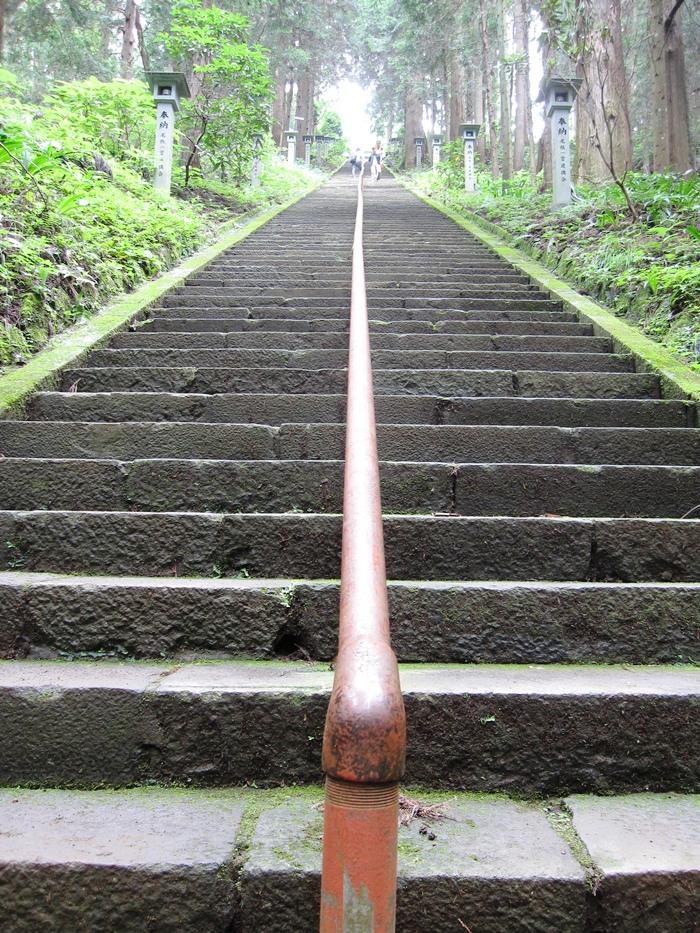 最乗寺の長い石段
