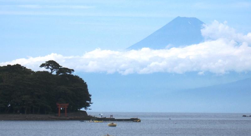 諸口神社と富士山