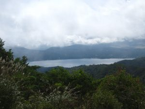 石割山から眺めた山中湖